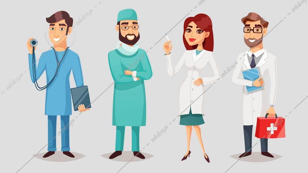 وکتور پزشک و دکتر