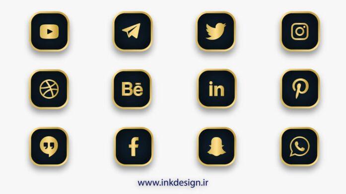 ایکون شبکه های اجتماعی social media icons