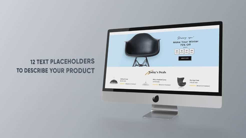 پروژه افترافکت بر روی مانیتور کامپیوتر Monitor Presentation
