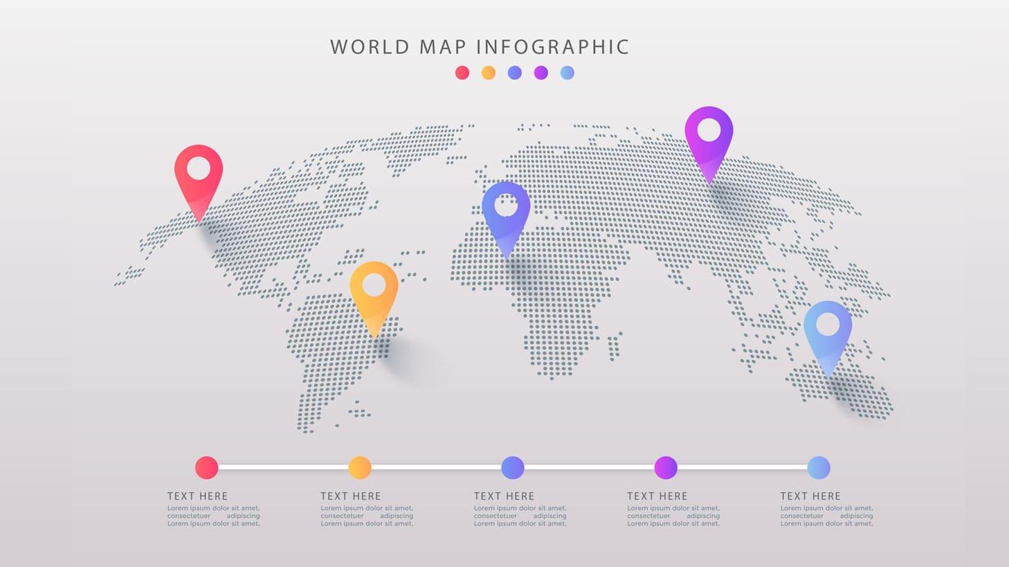 اینفوگرافیک نقشه جهان