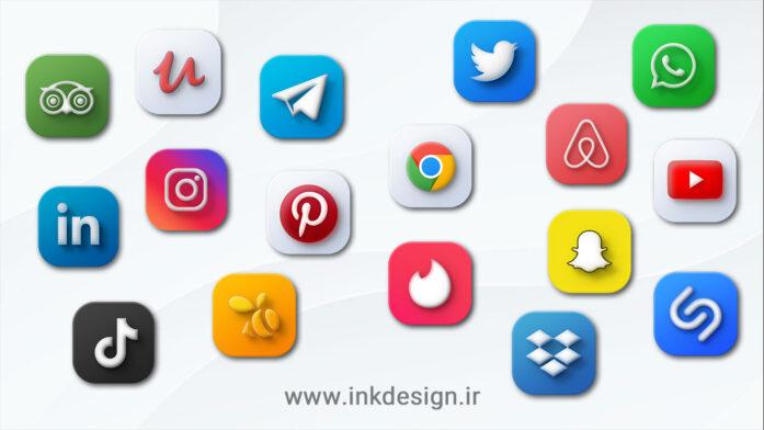 ایکون مک شبکه های اجتماعی - MacOS icons