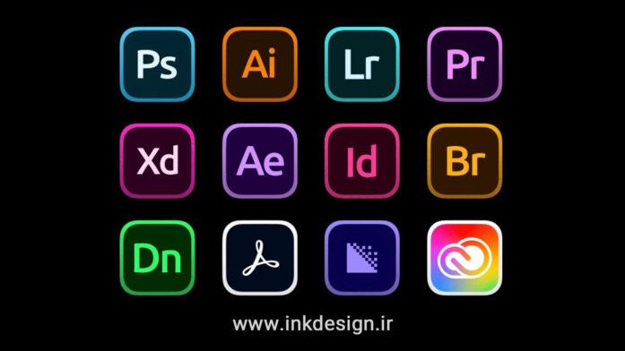 مجموعه آیکون های کمپانی ادوبی Adobe